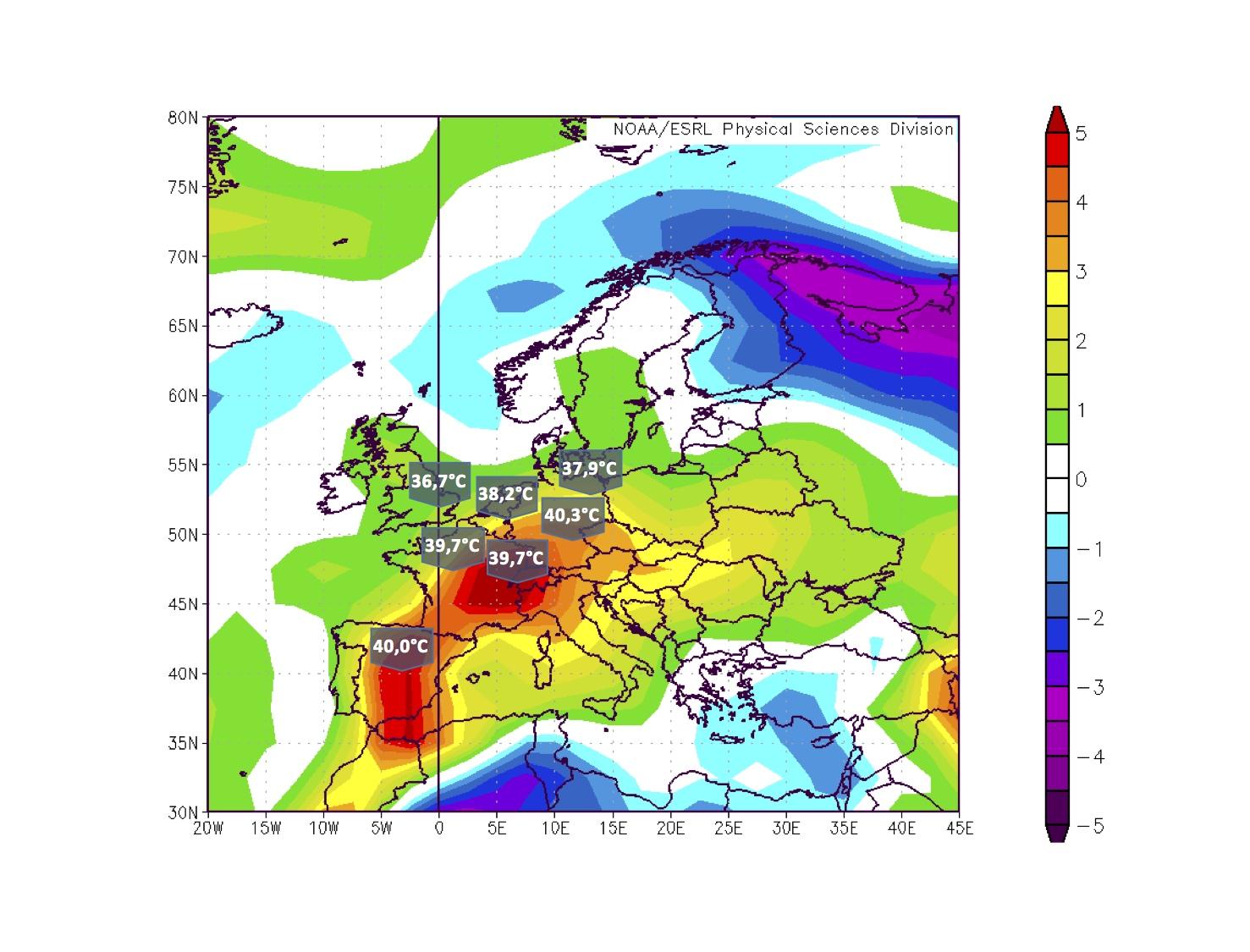 Die Hitzewoche von Anfang Juli brachte in weiten Teilen Europas rekordhohe Temperaturen. Von Spanien und Frankreich bis nach Deutschland und auch in der Schweiz stieg das Thermometer bis auf knapp 40 Grad.
